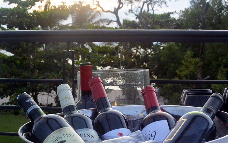 Imported Wine at Samanea Beach Resort in Kep