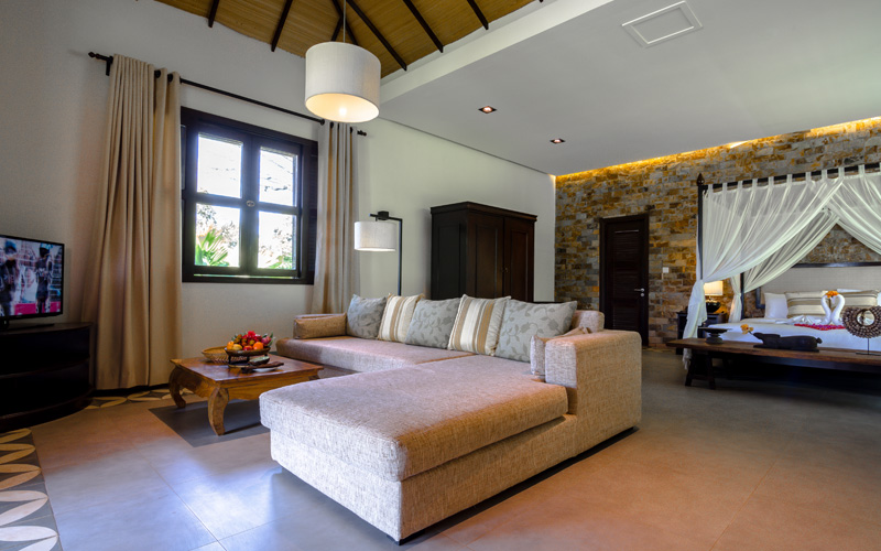 Large living Area in all Traditional Khmer Villas at Samanea
