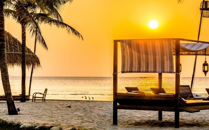 Private Beach Facilities at Samanea Beach Resort in Kep