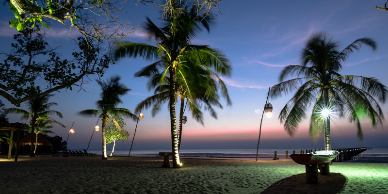 Sunset at the Beach in Kep