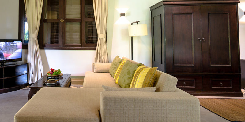 Large living Area in Deluxe Double Villa in Kep