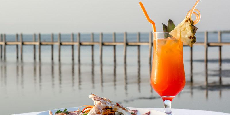 Chankiri Restaurant dining in Kep beach private Crab Seafood Western Burger Cocktails Prawns Ice Cream Dessert