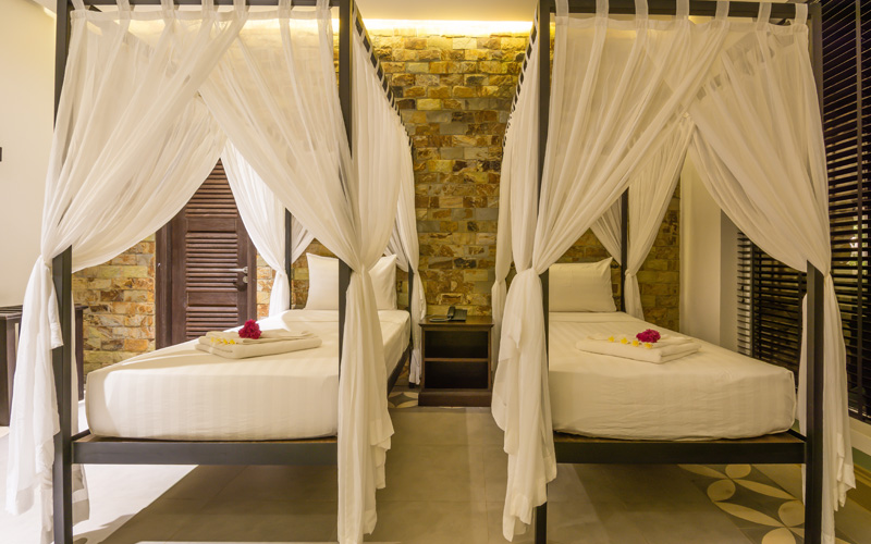 two single Beds Deluxe Twin Villa