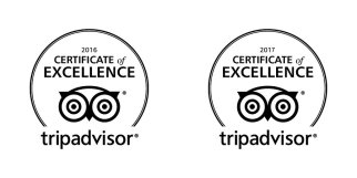 TripAdvisor Certificate of Excellent 2016-2017 Reviews