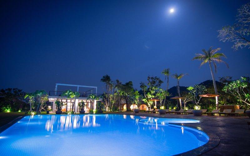 Swimming Pool Facilities at Samanea Beach Resort in Kep