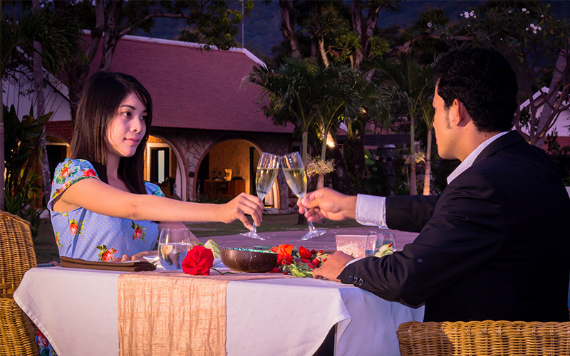 honeymoon diner extraordinary dining kep cambodia samanea beach resort spa hotel floating rooftop garden