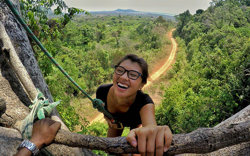 Tree climbing Discover Kep Samanea Beach Resort