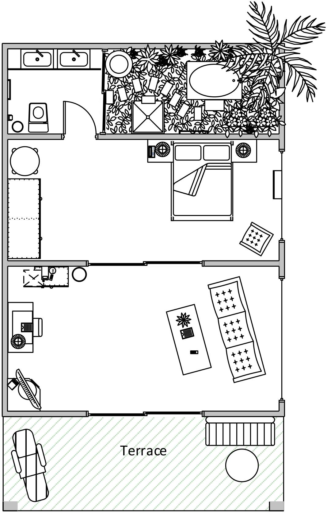 Junior Suite Villa Modern Layout