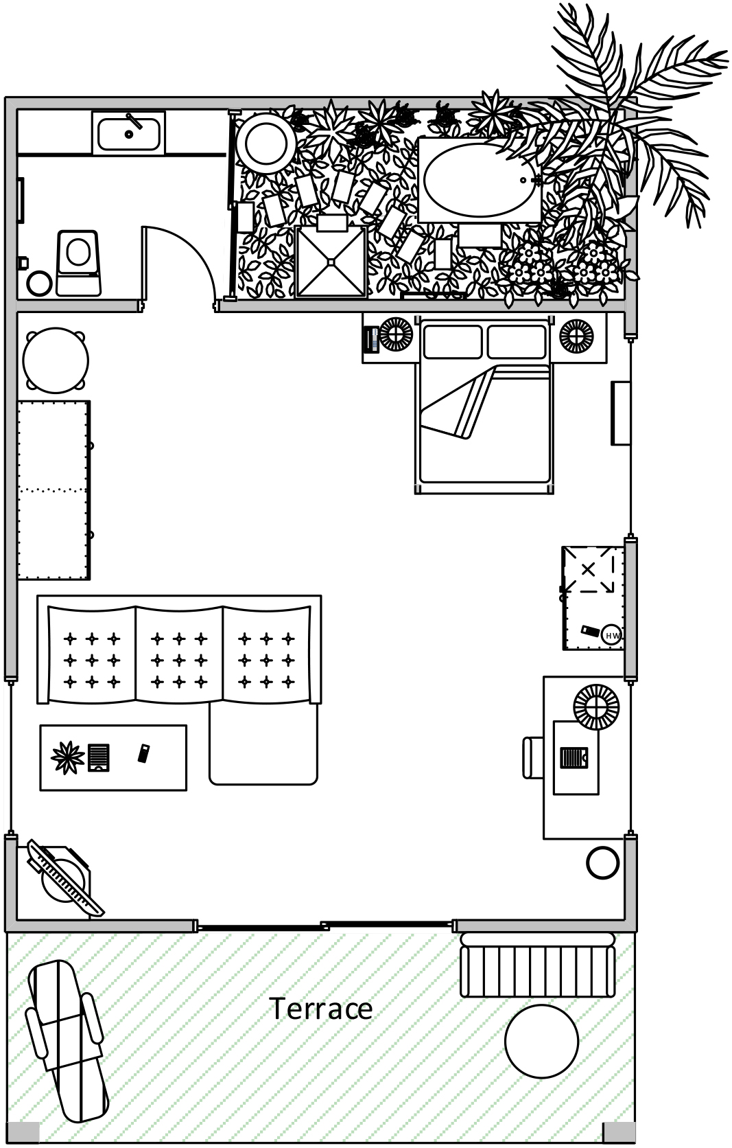 Deluxe Double Villa Layout