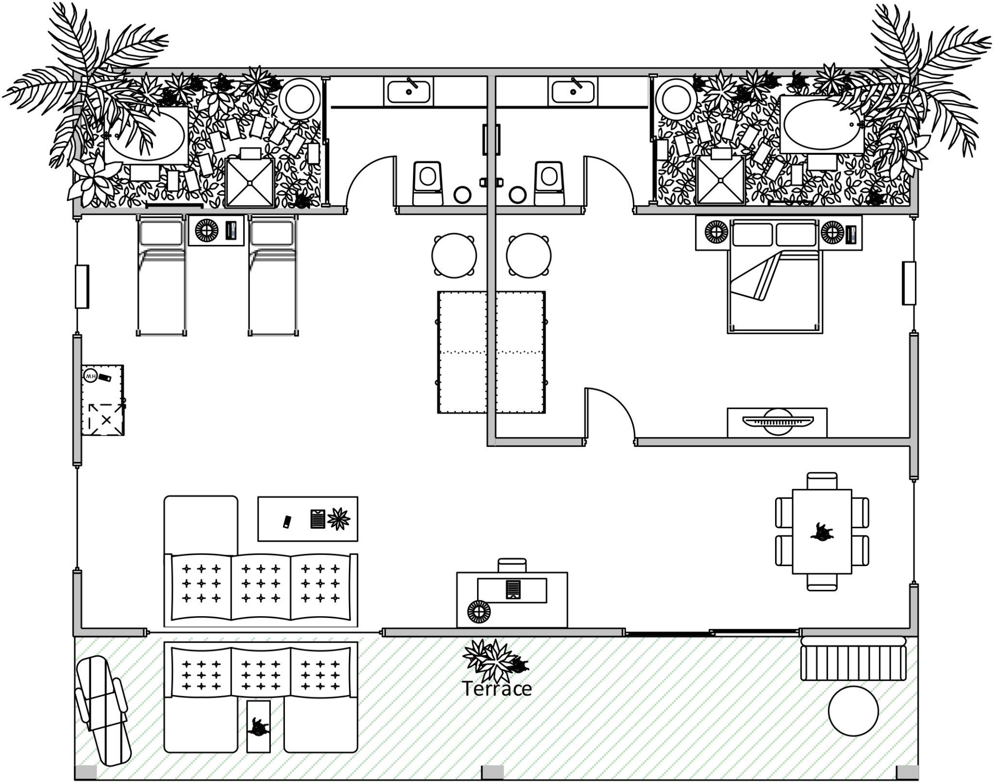 Family Suite Villa Layout