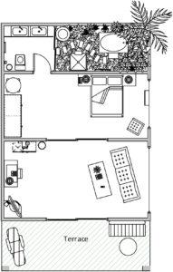 Triple Suite Villa Layout