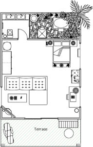 Junior Suite Villa Layout