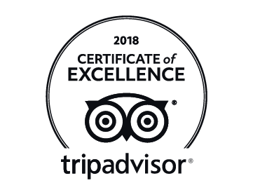 TripAdvisor Certificate of Excellent 2018 Reviews