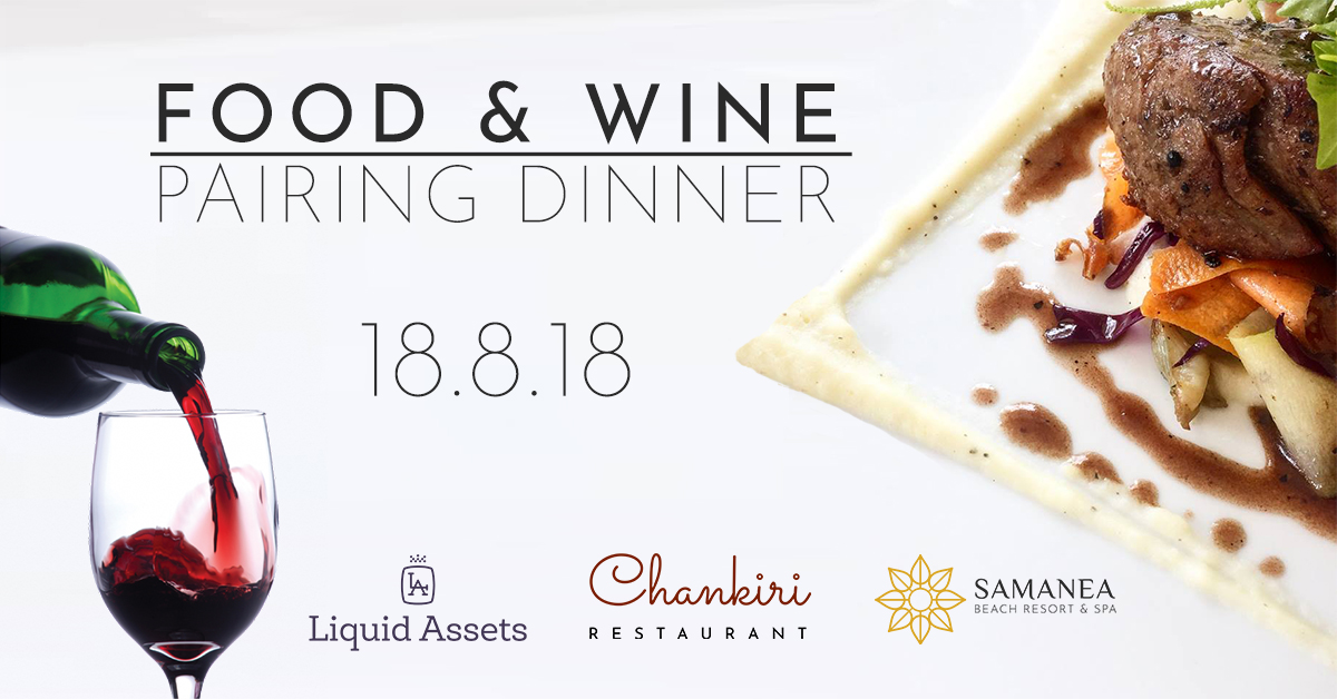 Food & Wine pairing dinner 18.8.18