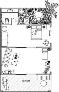 Triple Suite Villa Layout